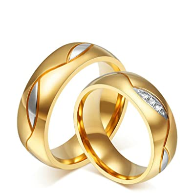 Aooaz Schmuck Ehepaar Hochzeit Ring Runde Form Blatt Breite 6mm