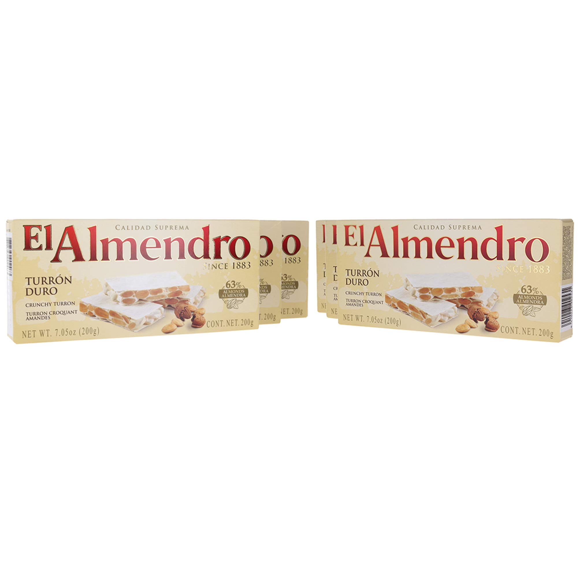 El Almendro Turron Crunchy Nougat - (6 Pack) by El Almendro