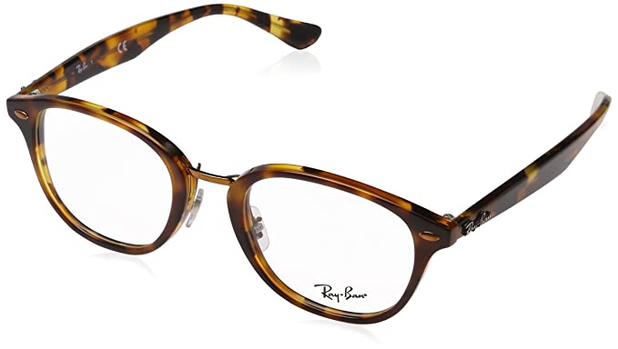 d4fe725ac0f17 Ray-Ban RX5355 Glasses in Havana Brown on Havana Yellow RX5355 5675 50   Amazon.co.uk  Clothing
