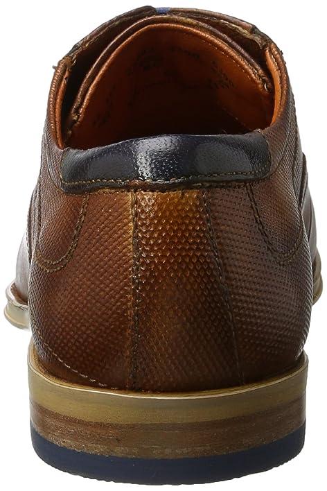 311234032100, Zapatos de Cordones Derby para Hombre, Marrón (Cognac 6300), 41 EU Bugatti