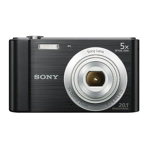 Sony DSCW800B.CEH Digital Compact Camera (20.1 MP, 5x Zoom, 2.7 LCD, 720p HD, 23 mm Sony G Lens) - Black