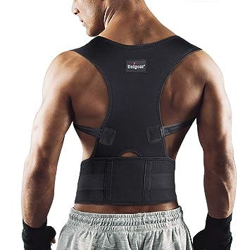Unigear Corrector de Postura para Espalda Hombro Aliviar Dolor de Columna Cinta Ajustable y Cómoda Sujetador Cinturón Corrección de Postura Respirable para ...