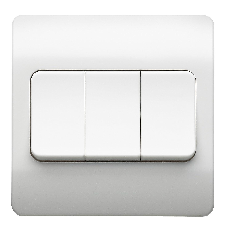 MK K4783WHI Zwei-Wege-Schalter 3-fach 1-polig 10 A breit   eBay