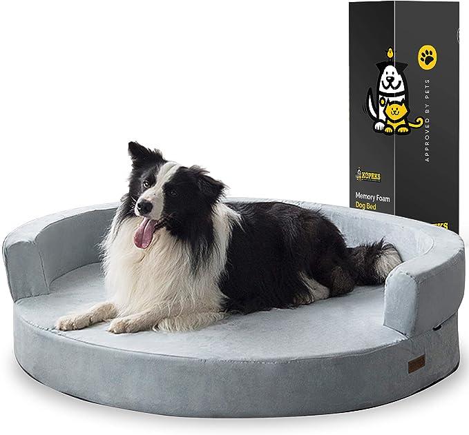 KOPEKS Deluxe Orthopedic Memory Foam Lounge Dog Bed | Amazon