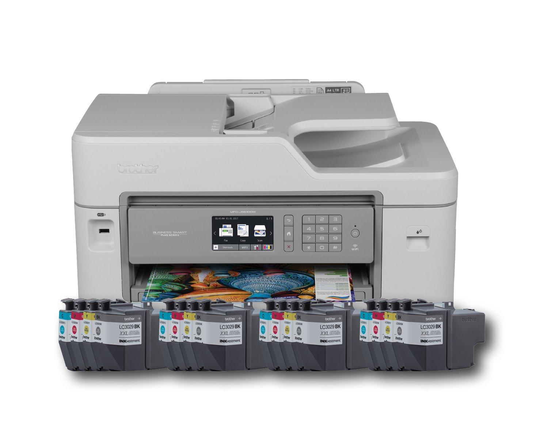 Brother Printer MFCJ5830DWXL Wireless color Printer with Scanner, Copier & Fax Amazon Dash Replenishment Enabled