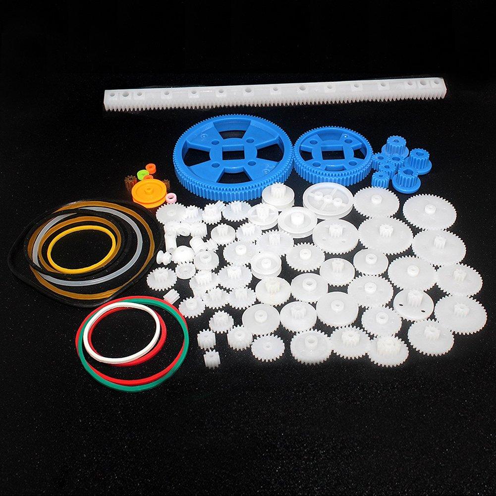 Ltd. 80Pcs Plastic DIY Robot Gear Kit Gearbox Motor Gear Set for DIY Car Robot Shenzhen Xin Rui Mei Foreign Trade Co