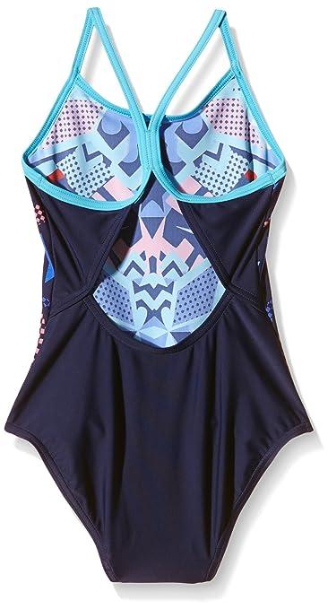 839c886361 Zoggs Girls  Squad Code Sprintback Swimming Costume - Navy Multi-Colour