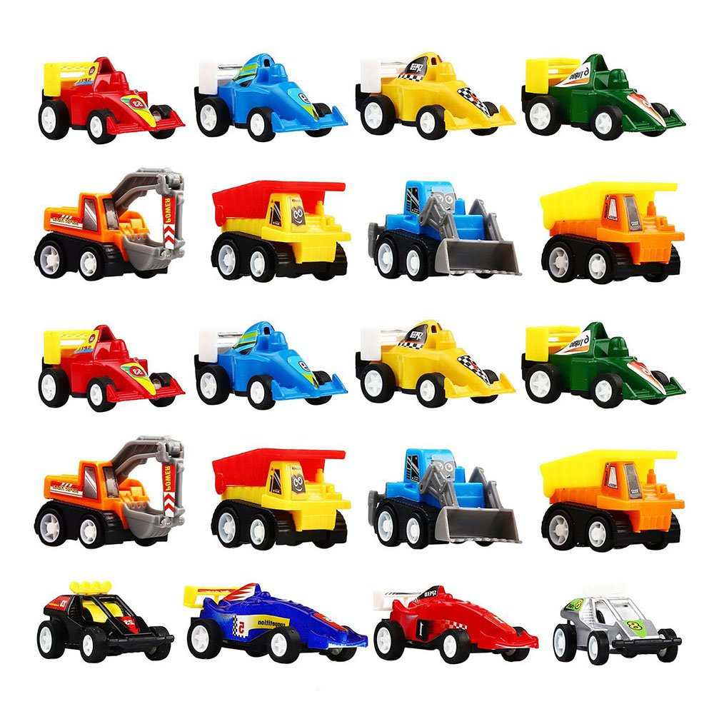 DIMY Toys for 3 4 5 Year Old Boys, Mini Pull Back Vehicles 20 Pack Play Set Toys Cars for Kids Boys