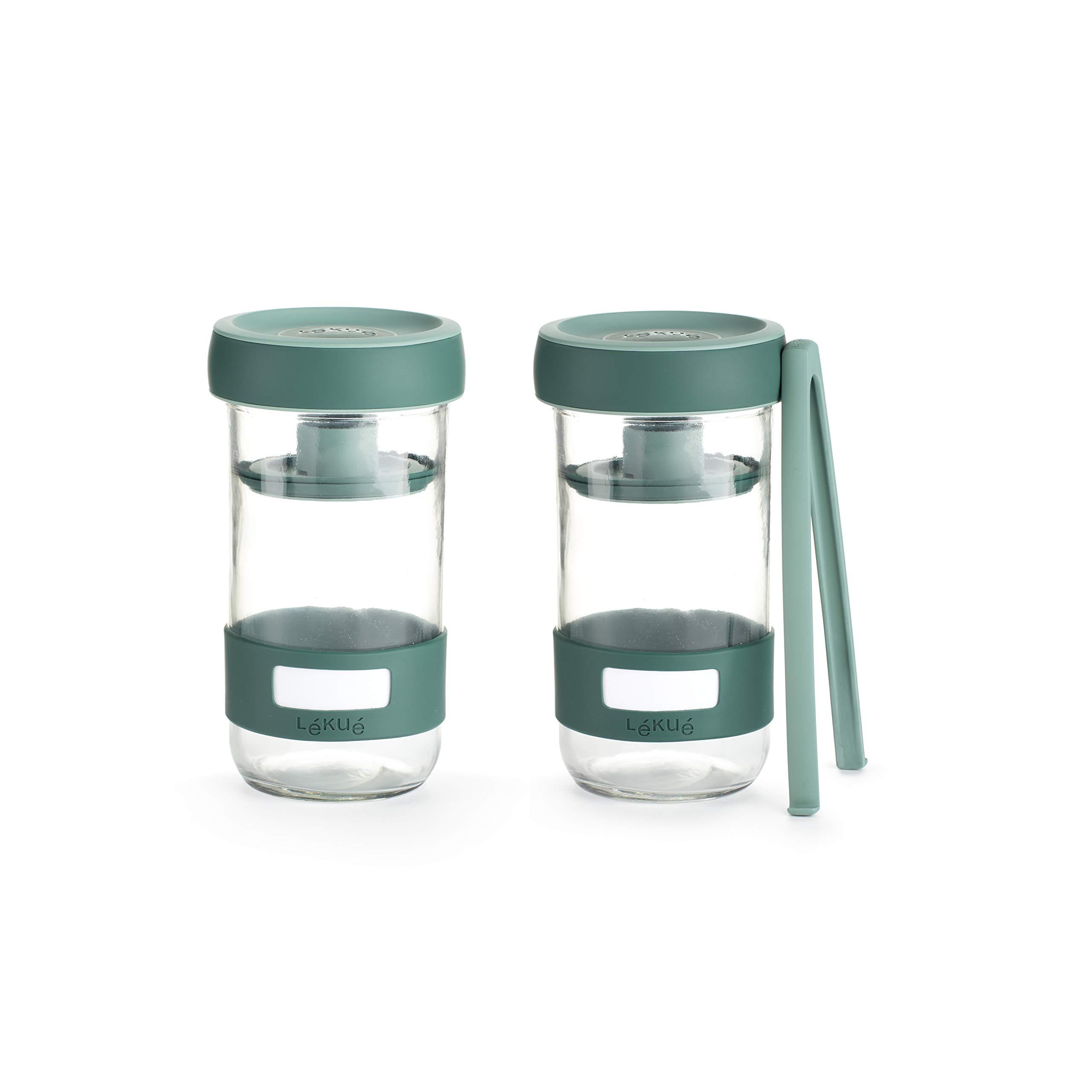 Lekue 3000100SURM017 Pickling Fermenting Kit, 24 oz, green by Lekue