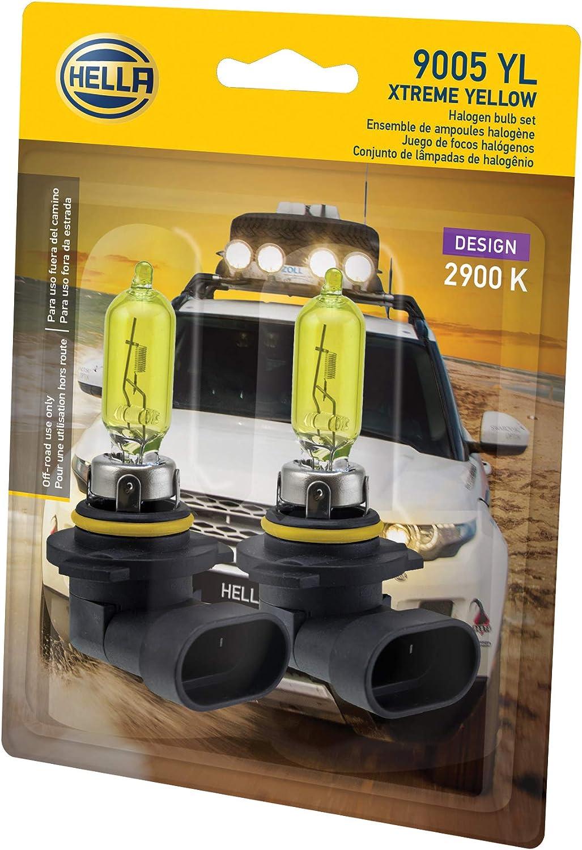 65W HELLA 9005 2.0TB Twin Blister Kit High Performance Bulb 2 Pack 12V