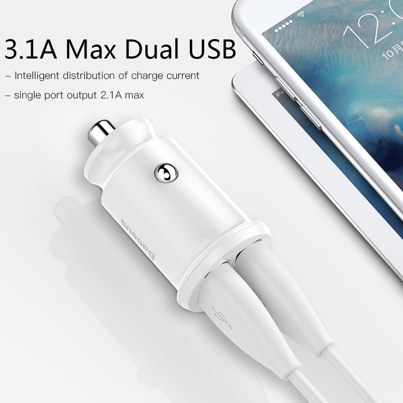 Amazon.com: Cargador de coche mini USB para teléfono móvil ...