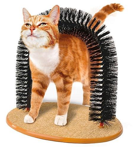 Cat Arch, Legendog Auto Grooming Gato Groomer Groomer y Masajeador para el Control de Eliminación Evita Hairball: Amazon.es: Productos para mascotas