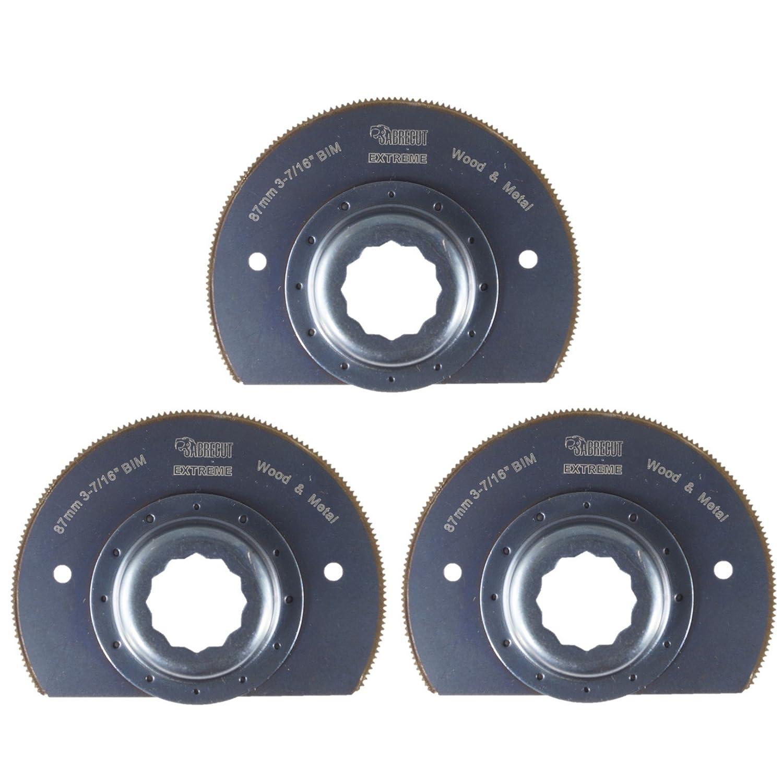 3/x 87/mm sabrecut sc90b /_ 3/metal cuchillas para Fein Supercut y Festool Vecturo multiherramienta oscilante multi herramienta accesorios