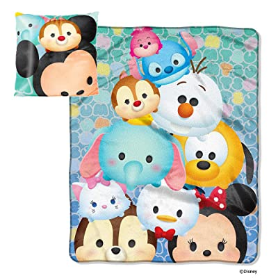 Northwest Enterprises Disney Tsum Tsum Micro Raschel Throw Blanket and Pillow Set: Home & Kitchen
