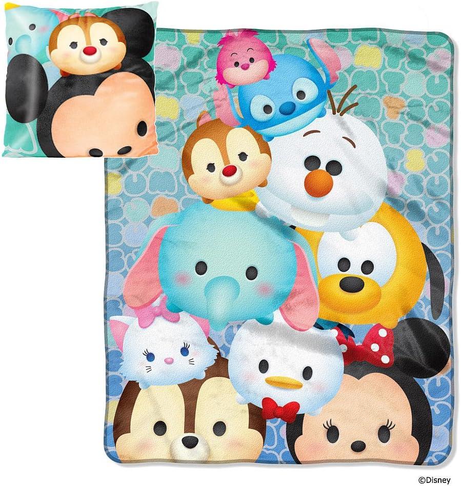 Northwest Enterprises Disney Tsum Tsum Micro Raschel Throw Blanket and Pillow Set
