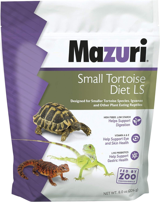 Mazuri Tortoise | Nutritionally Complete Low-Starch Tortoise Food | 8 Ounce (8 oz) Bag