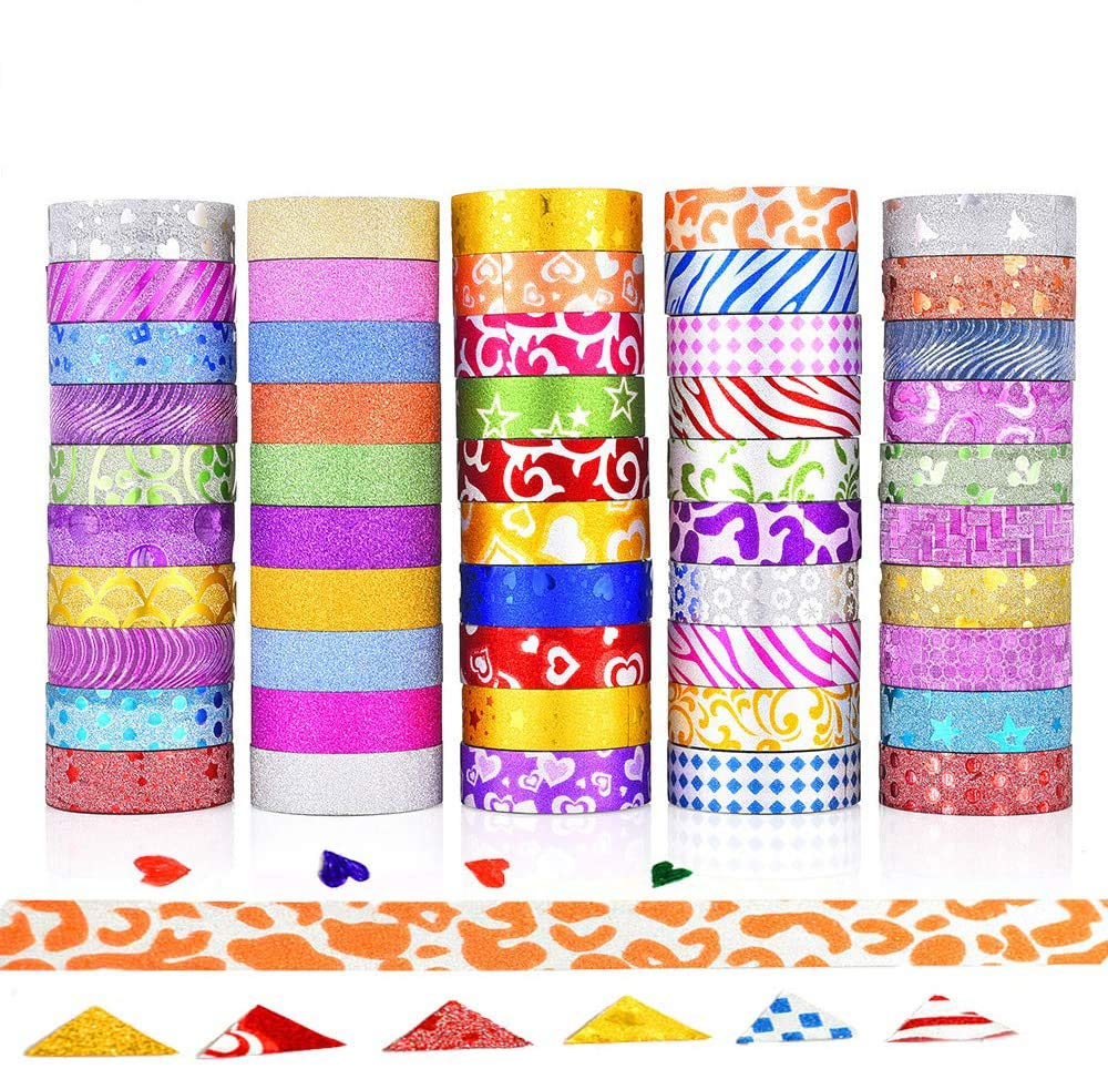 Blue Sea Wave Japanese Decorative Washi Masking Tape for DIY Crafts Arts Scrapbooking Journal Planners Gift YeulionCraft 12 Rolls Washi Tapes Set