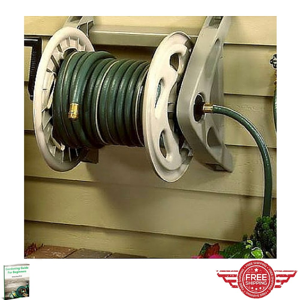 Amazon.com: Wall Mount Hose Reel,Water Garden Yard Reelcraft Resin ...