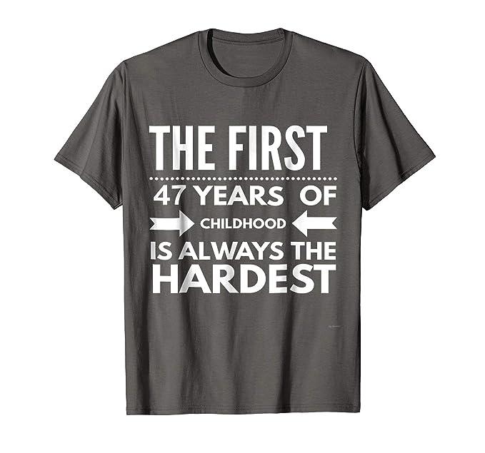 Mens Funny 47 Year Old Birthday T Shirt Gift For 47th 2XL Asphalt