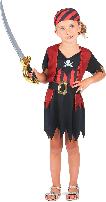 Disfraz de pirata para niña: Amazon.es: Juguetes y juegos