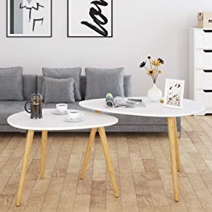 related image of             HOMFA Large Nesting Coffee Tables for Living