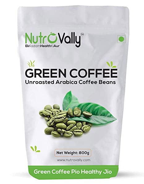 Buy Nutrovally Organic Green Coffee Beans For Weight Loss 800gm