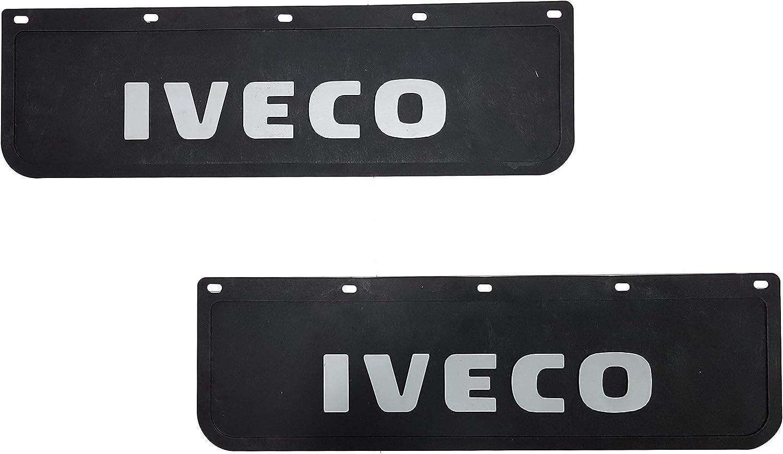 color negro 60 x 18 cm 2 unidades Guardabarros de goma resistente para cami/ón