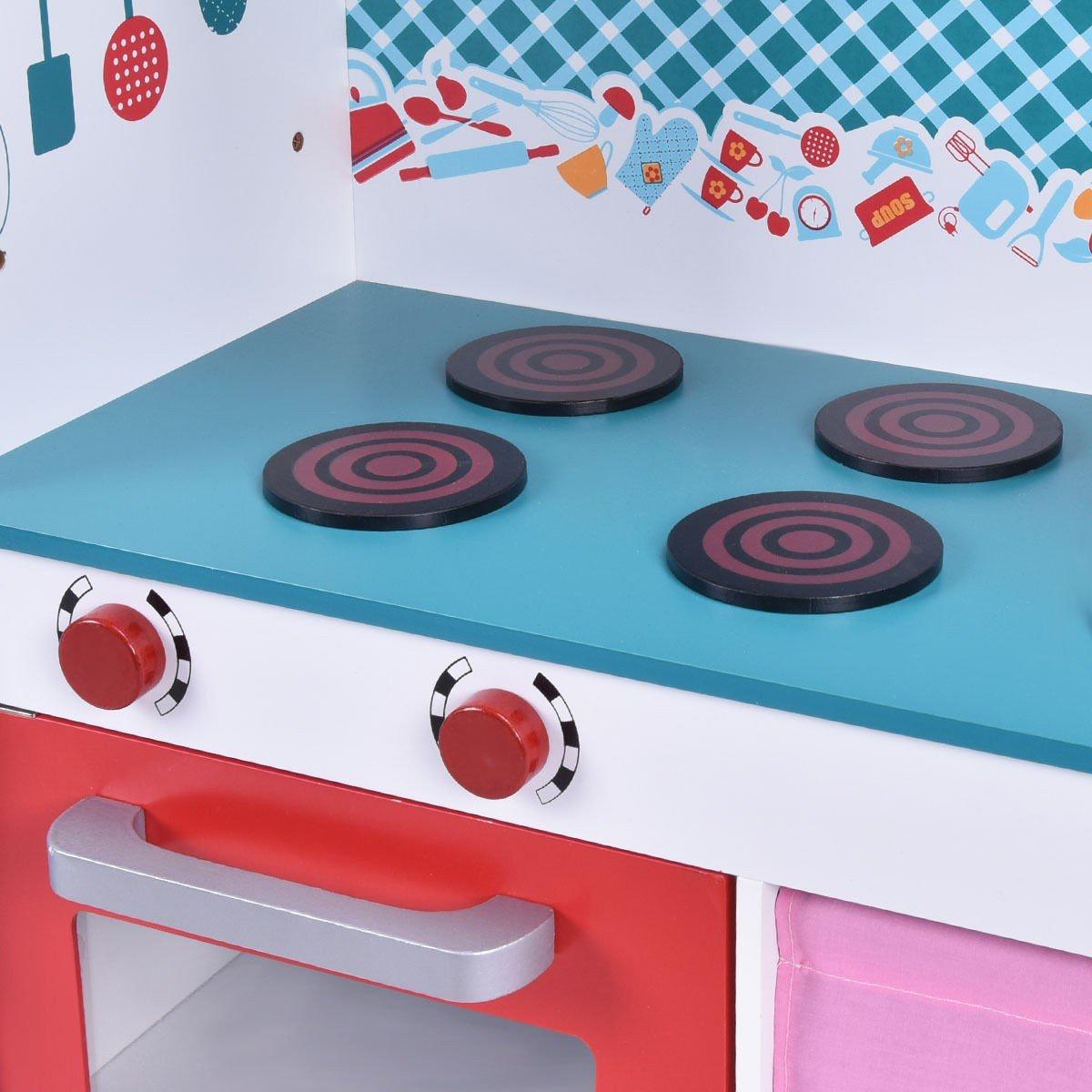 Amazon.com: COSTWAY Little Chef Kitchen Play Set - Toy Kitchen ...