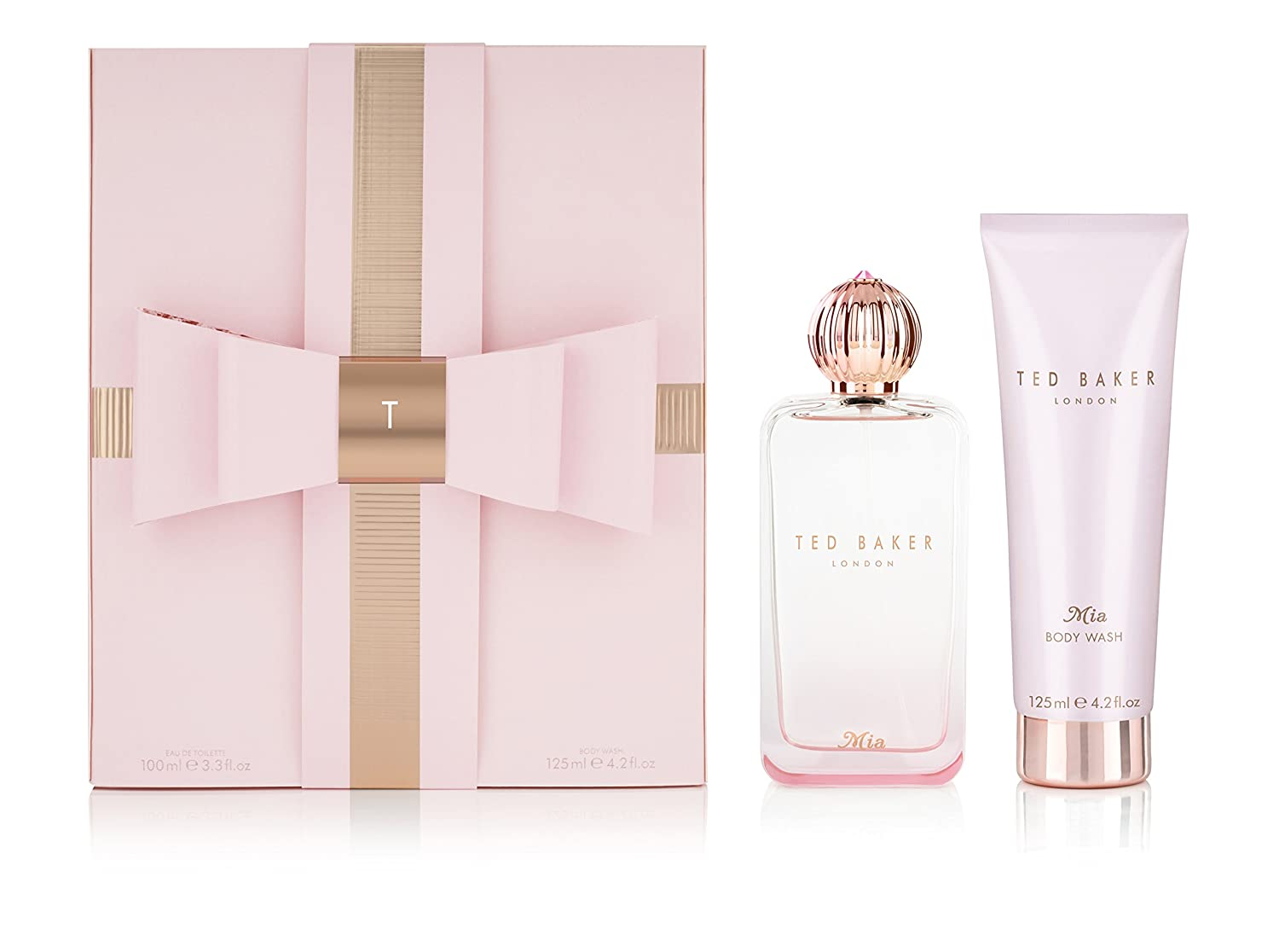 16c237f7c6b559 Ted Baker Sweet Treat Gift Set - Mia - 100 ml EDT + 125 ml Body Wash   Amazon.co.uk  Luxury Beauty