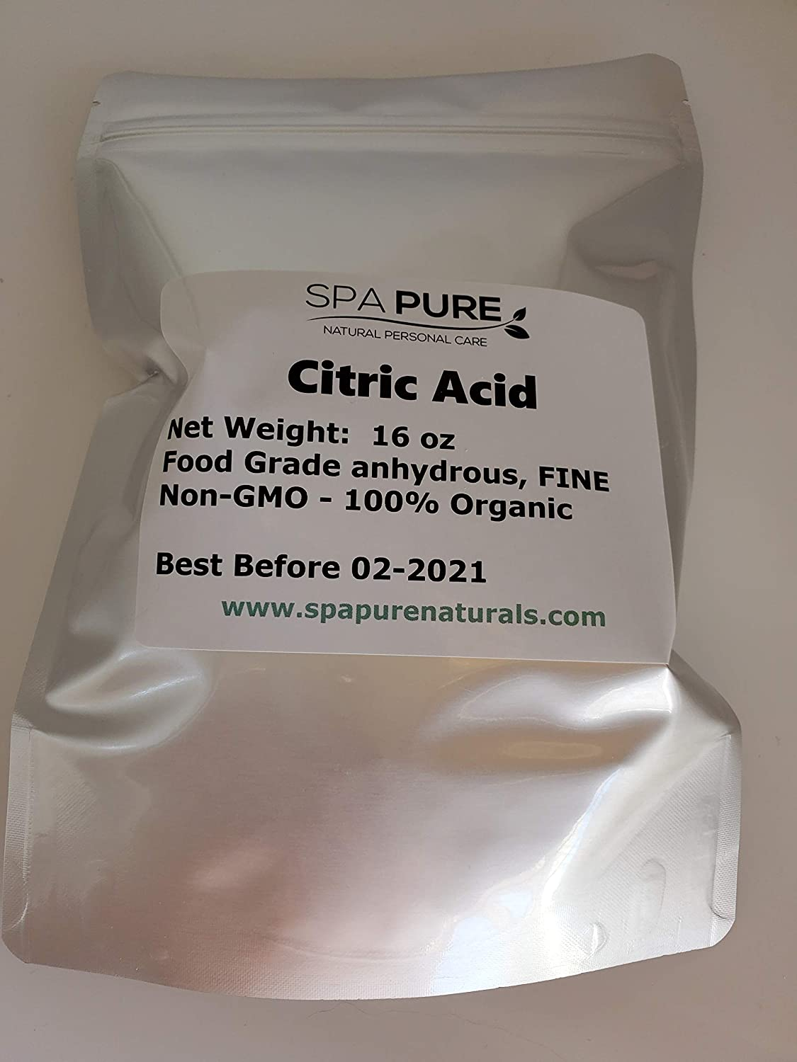 PURE CITRIC ACID, 1 POUND, Food Grade, Non-GMO, Organic, best for making bath bombs, wine, home brew or cleaner (1 lb)