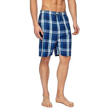 96b120ae28 Mantaray Men Pack of Two Navy Checked Lounge Shorts: Mantaray:  Amazon.co.uk: Clothing