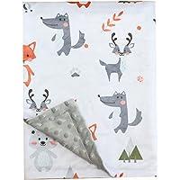 Fox Baby Blanket Boys Soft Minky Baby Blanket Fleece Baby Girl Security Fox Blanket Plush Dot Toddler Baby Newborn…