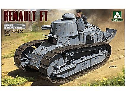 Amazon Com Takom 1 16 French Light Tank Renault Ft 17 3 In 1 No