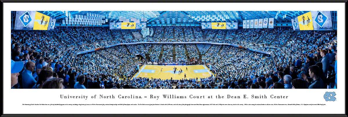 North Carolina Basketball - 40.25x13.75-inch Standard Framed Picture by Blakeway Panoramas by Blakeway Worldwide Panoramas, Inc.