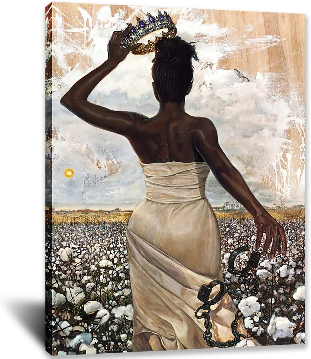 IXMAH Be The Queen You Were Born To Be African American Woman Poster Black Girl Magic Canvas Prints Painting Wall Art for Bedroom Living Room Decor
