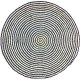 J.elliot Cove Rug Rug, 120CM Round, Natural/Indigo