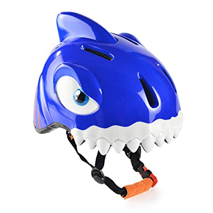 Chaokele kids helmets Childrens cute shark shape design safe bike helmet blue
