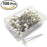 ULTNICE 100pz Pearlized spilli spilli con testa sfera cucire Pins per l'artigianato di cucito fai da te