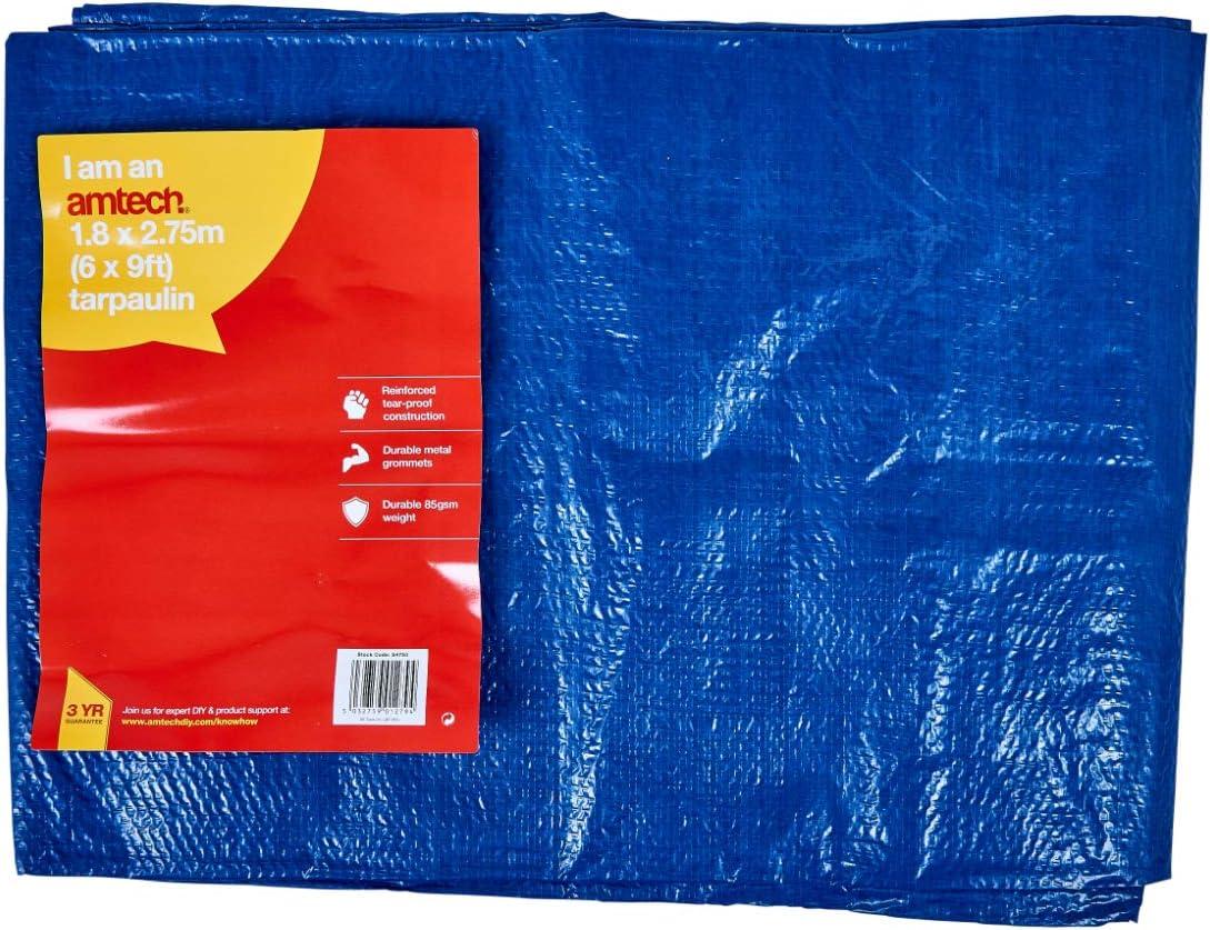 12/' X 8/' Tarpaulin Green Tear Proof Washable Waterproof Mildew Resistant 85Gsm