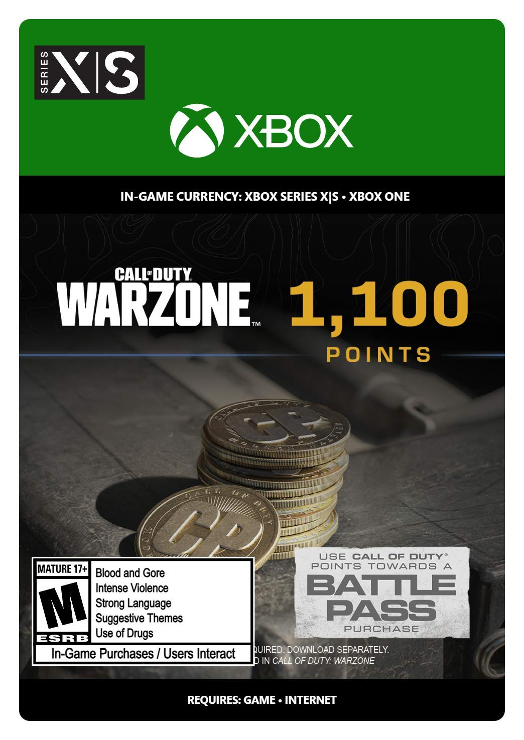 Call of Duty: Warzone Points - 1100 - Xbox [Digital Code]