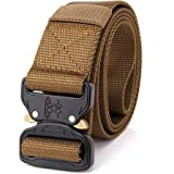 OHENNY Tactical Belt,Military Style Heavy Duty Belt, Quick-Release Webbing 1000D Nylon Belts with Metal Buckle