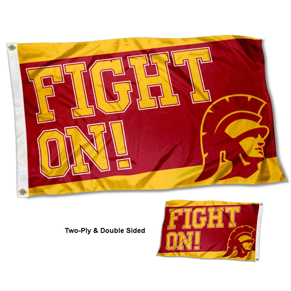 USC Trojans Fight On Double Sidedフラグ B079V9M5GM 15559