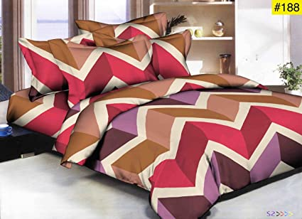 Fresh From Loom Glace Cotton Luxurious Comforter,Double Bedsheet, Pillow Cover, Standard Size- Set of 4