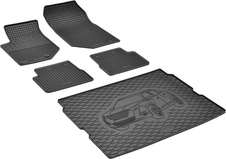 Bac de coffre et tapis de sol en caoutchouc adapt/és pour Peugeot 2008 /à partir de 2020