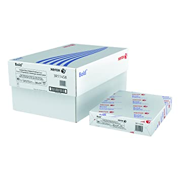 Xerox 3R11458 Bold Coated Gloss Digital Printing Cover Paper, 8 1/2 x 11,  White (Pack of 250 Sheets)