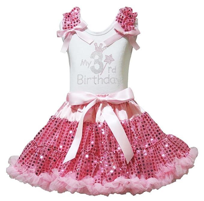 Petitebelle Tercer cumpleaños Camiseta de Vestido de Color ...