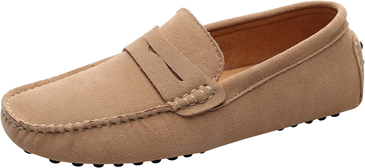 Men/'s Penny Casual Moc-Toe Slip On Boat Shoe Driving Lightweight Loafers Size US