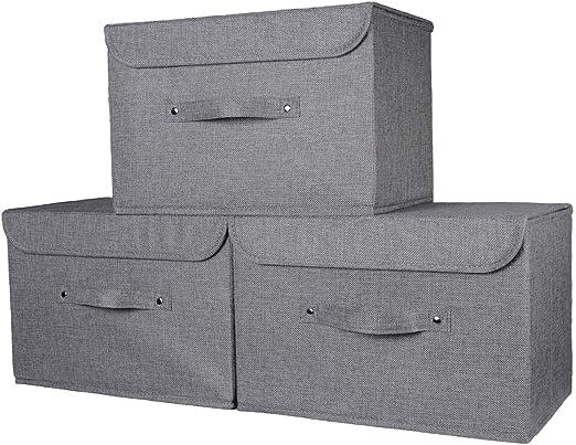 Magpie Gorgeous Grey - Caja de Almacenamiento con Tapa (37 x ...
