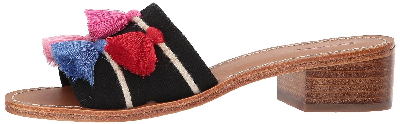 Soludos Women's Tassel City Slide US|Black/Multi Sandal B0721SRJJ2 8.5 B(M) US|Black/Multi Slide 670494