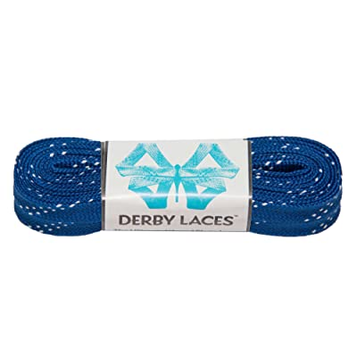 Derby Laces Blue 96 Inch Waxed Skate Lace for Roller Derby, Hockey and Ice Skates, and Boots : Sports & Outdoors